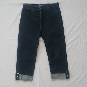 Not Your Daughters Jeans cropped dark wash